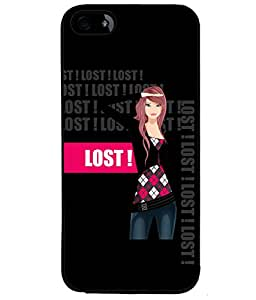 Fuson Lost Girl Back Case Cover for APPLE IPHONE 5 - D4033