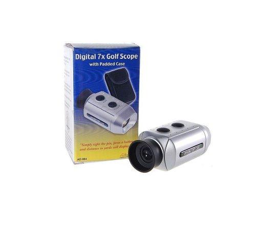 Digital 7X Golf Range Finder Scope Golfscope /W 2*Cr2032 Battery + Carrying Bag
