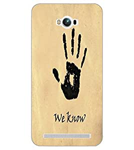 ASUS ZENFONE MAX WE KNOW Back Cover by PRINTSWAG