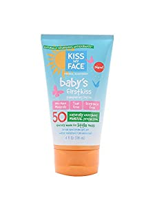 Kiss My Face Babys' First Kiss SPF 50 Mineral Sunscreen Lotion