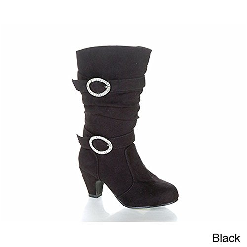 Jelly Beans Valencia Kid'S Hot New Girls Chunky Heel Knee High Boots Shoes