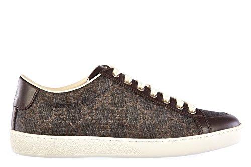 Gucci scarpe sneakers donna in pelle nuove marrone EU 36.5 323793 KHN80 1059