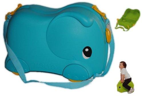 3 in 1 Kinderkoffer blau Elefant Tier Tiere Kinderreisekoffer