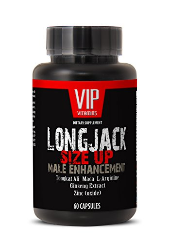 Longjack Size Up 2170mg - Male Enhancement with Maca, Tongkat Ali, L-Arginine, Ginseng and Zinc - Natural Testosterone Booster - Premium Quality (1 Bottle 60 Capsules)