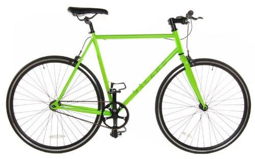 Fixed Gear Single Speed Track Bike, Green, 54cm
