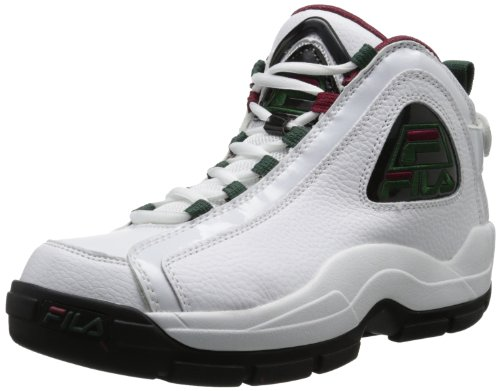 Fila Men's 96 Basketball Shoe,White/Sycamore/Biking Red,11.5 M US