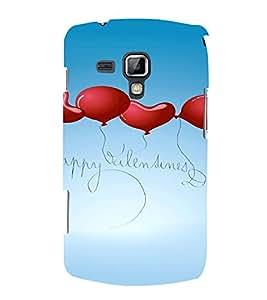 PrintVisa Valentines Day Design 3D Hard Polycarbonate Designer Back Case Cover for Samsung Galaxy S Duos S7562