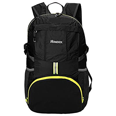 Homdox 35L Ultra Lightweight Foldable Packable Backpack, Durable Light Hiking Daypack for Men and Women