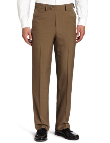 Geoffrey Beene Men'S Stria Extender Waist Dress Pant, Taupe, 34X32