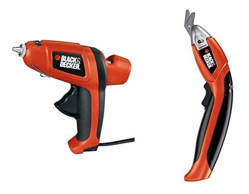 Black and Decker Powered Scissors and Cord Free Glue Gun Kit. (Heat Gun Black & Decker compare prices)