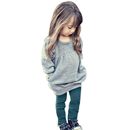 Culater® Ragazze dei capretti Outfit a maniche lunghe T-shirt Warm Long Pants (130)