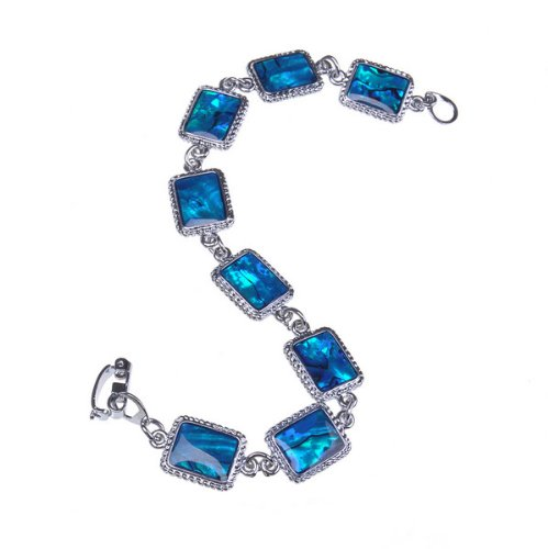 BestDealUSA Charming Beautiful Stylish Shell Squre Bracelet Blue Nice Gift