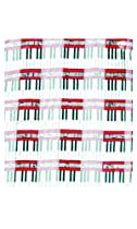 Piano Keyboard Scarf with Staff and Black notes