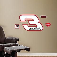NASCAR Dale Earnhardt Sr. No. 3 Logo - Fathead Jr. by Fathead