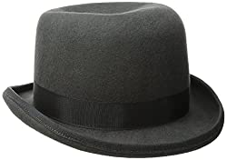 Scala Mens Wool Felt Derby Hat, Charcoal, Medium