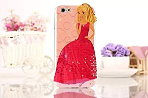 For Apple iphone 5 5s 5G SE Barbie Doll Cute Girl 3D Embossed Soft TPU Back Case Cover