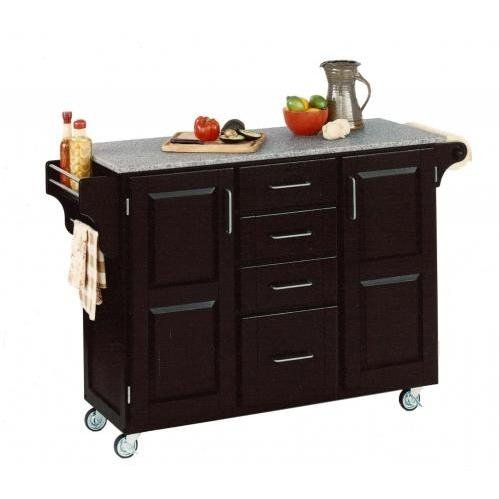 Cheap Home Styles Large Kitchen Cart With Granite Top – Salt & Pepper/Black – 9100-1043 (B0060M0GBA)