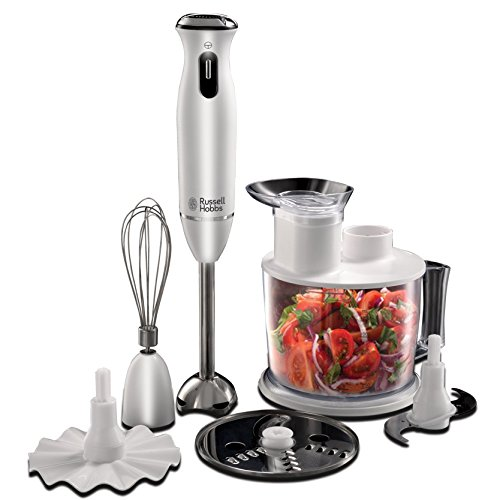 Russell Hobbs 21500-56 Frullatore ad Immersione 6 in 1 Aura, Bianco