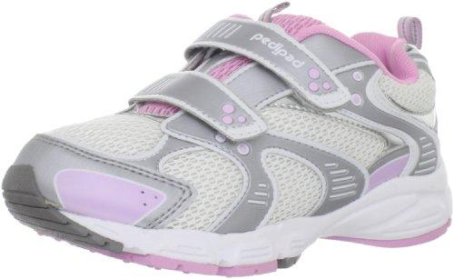 Pediped Flex Venus Sneaker (Toddler/Little Kid),Silver/Pink,29 Eu (12-12.5 E Us Little Kid) front-955030