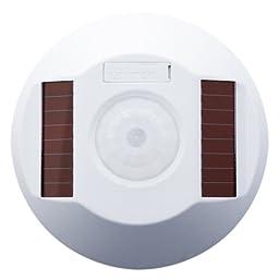 Leviton WSC04-IRW Wireless Self-Powered PIR Occupancy Sensor, 450 Square Feet, White