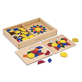 Melissa & Doug Pattern Blocks and Boards: Toys & Games