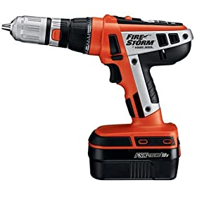 Black & Decker Firestorm FS1800D 18 Volt Drill FS18DSK Starter Kit with Battery, Charger, and Storage Bag