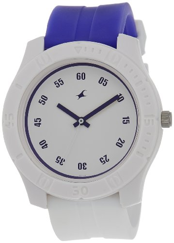 Fastrack Tees Analog White Dial Men's Watch - 3062PP09