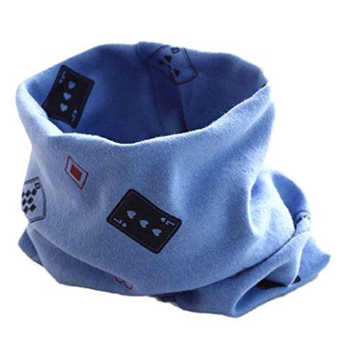 baby longra herbst winter boys girls drucken kragen baby schal gestrickt o ring halst cher blue. Black Bedroom Furniture Sets. Home Design Ideas