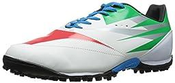 Diadora DD-NA 2 R Turf Soccer Shoe, White/Green/Red, 7.5 M US