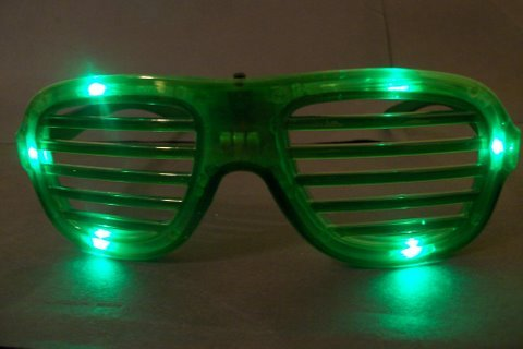 Green Lights Flashing Led Shades Style