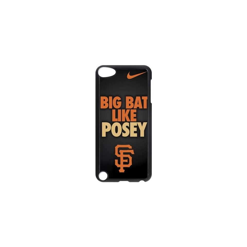 Custom Design ZH 1 Sports MLB San Francisco Giants Buster Posey Black Print Hard Shell Case for iPod Touch 5th Cell Phones & Accessories