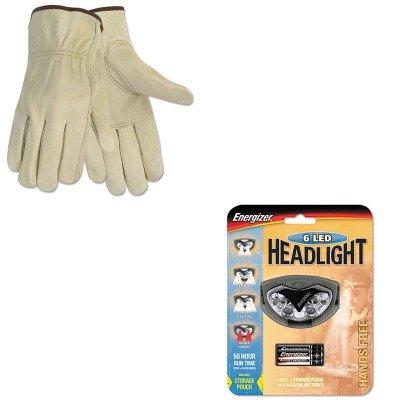 Kitcrw3215Mevehdl33A2E - Value Kit - Memphis Economy Leather Driver Gloves (Crw3215M) And Energizer Led Headlight (Evehdl33A2E)