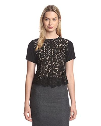 Aijek Women's Drifter Short Sleeve Lace Top