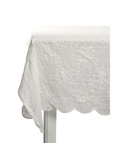 Lene Bjerre Catie Embroidery Off-White Tablecloth, 55 x 110