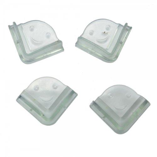4Pcs Safety Hard Angle Desk Corner Protector Set Transparent 13019695