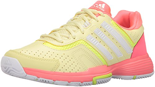 Adidas Performance Women's Barricade Court 2 W Tennis Shoe, Ice Yellow White/Flash Red, 8.5 M US