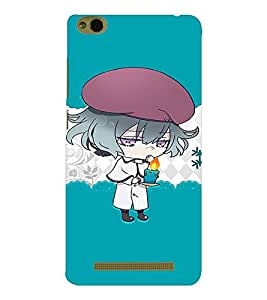 EPICCASE Girl with Blue Candy in Hand Mobile Back Case Cover For Xiaomi 3S Prime (Designer Case)