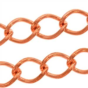 Solid copper heavy curb chain bulk by for Craft chain by the foot