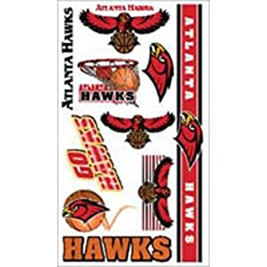 Atlanta Hawks NBA Temporary Tattoos (10 Tattoos)