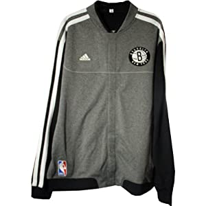 Josh Childress Jacket - Brooklyn Nets 2012-2013 Season Game Used #2 Grey White and... by Steiner Sports