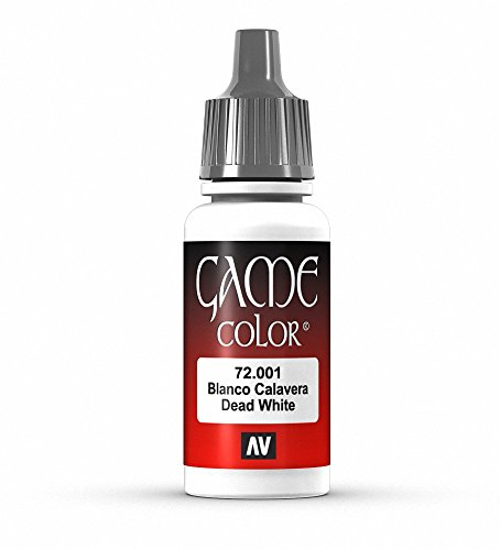 Vallejo Game Color Dead White Paint, 17ml
