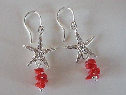 orecchini-pendenti-argento-stella-marina-e-corallo-naturale