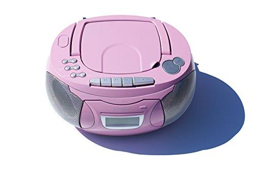 Kinder Mädchen Stereoanlage CD-Player Radio Kassettendeck Boombox DENVER TCP-39 Pink