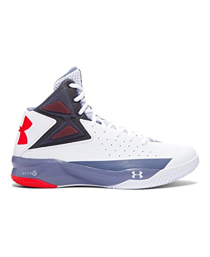 Under Armour Men's UA Rocket Basketball Shoes 8.5 White