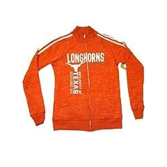 Texas Longhorns Blue 84 Women Orange White Full-Zip LS Pocketed Sweatshirt (L) by Blue 84