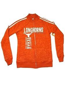 Texas Longhorns Blue 84 Women Orange White Full-Zip LS Pocketed Sweatshirt (M) by Blue 84