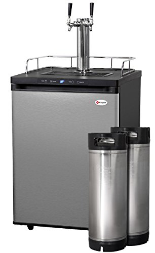 Buy Kegco Full-Size Digital Homebrew Kegerator Dual Faucet Stainless with Ball Lock Keg