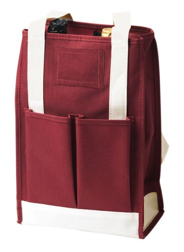 True Fabrications Canvas 2-Bottle Wine Tote and Wine Bag, Burgundy