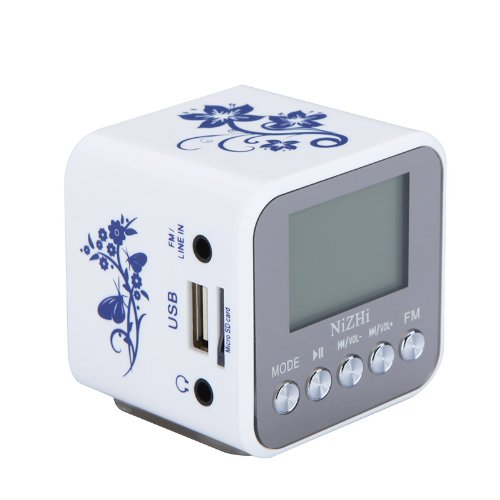 Docooler Digital Mini Speaker Micro Sd/Tf Card Usb Disk Audio Amplifier Mp3/4 Music Player Fm Radio (A)