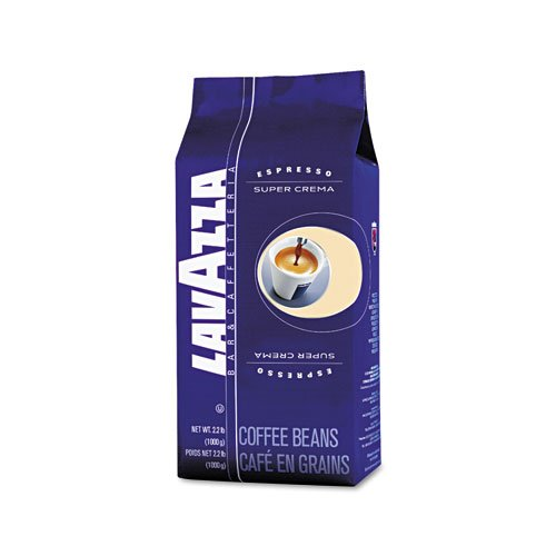 Lavazza - Super Crema Whole Bean Espresso Coffee, 2.2Lb Bag, Vacuum-Packed 4202 (Dmi Ea